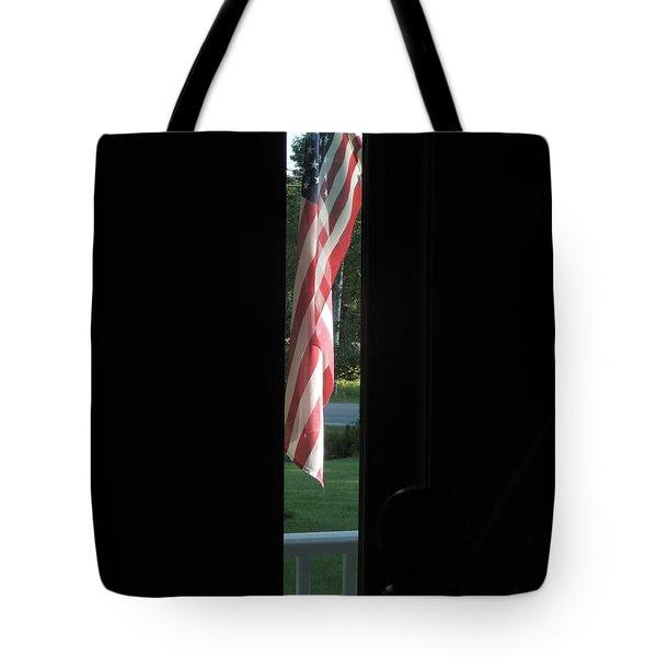 Front Porch Flag Tote Bag