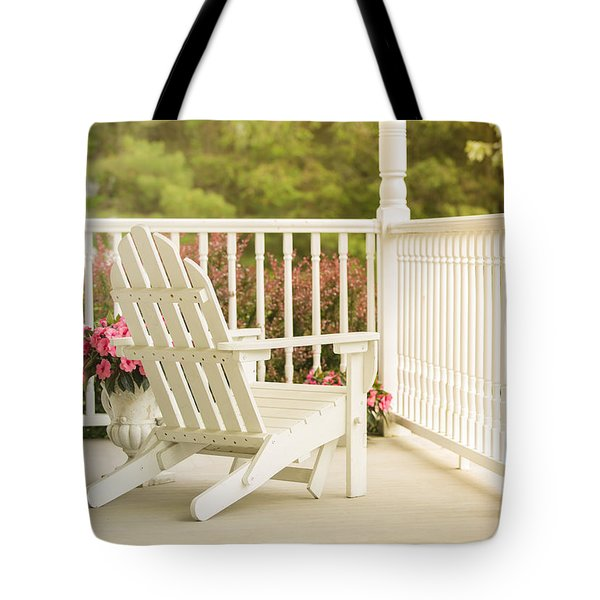 Front Porch In Summer Tote Bag