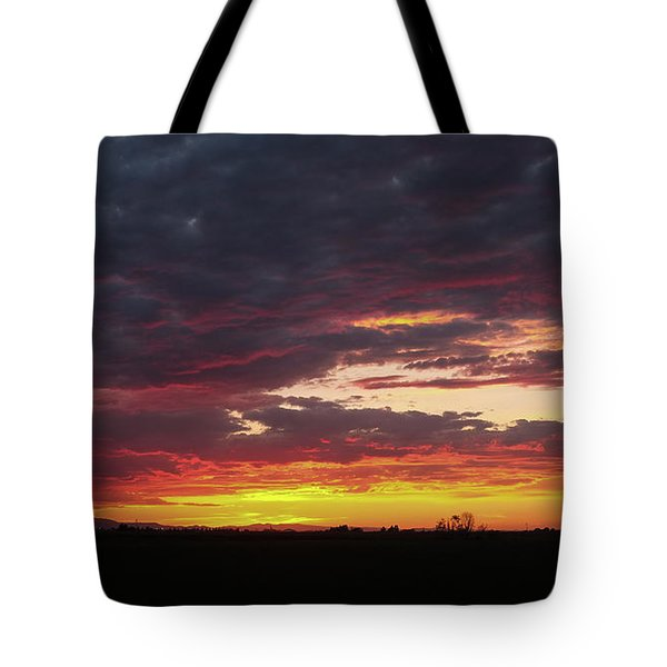 Tote Bag featuring the photograph Front Range Sunset by Monte Stevens