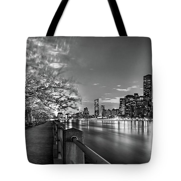 Tote Bag featuring the photograph Front Row Roosevelt Island by Az Jackson