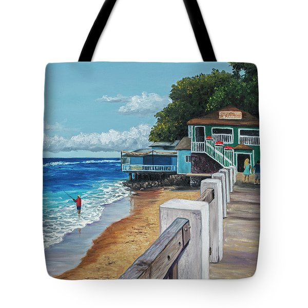Tote Bag featuring the painting Front Street Lahaina by Darice Machel McGuire
