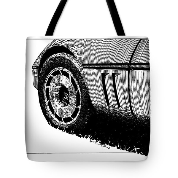 Front Wheel Study - Art By Bill Tomsa Tote Bag