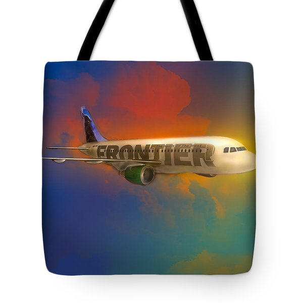 Frontier Airbus A-319 Tote Bag by J Griff Griffin