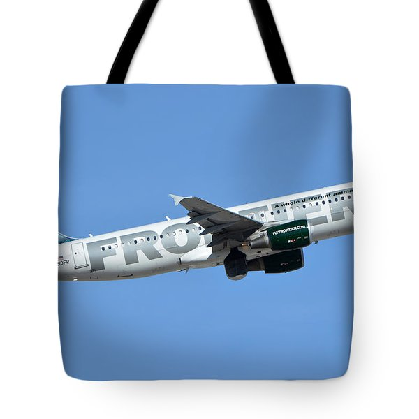 Frontier Airbus A319-214 N210fr Sheldon The Sea Turtle Phoenix Sky Harbor January 21 2016 Tote Bag by Brian Lockett