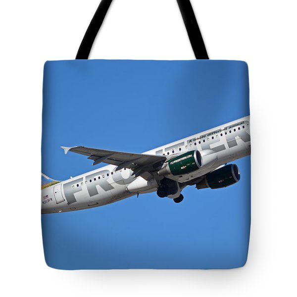 Frontier Airbus A320-214 N213fr Montana The Elk Phoenix Sky Harbor January 12 2015 Tote Bag