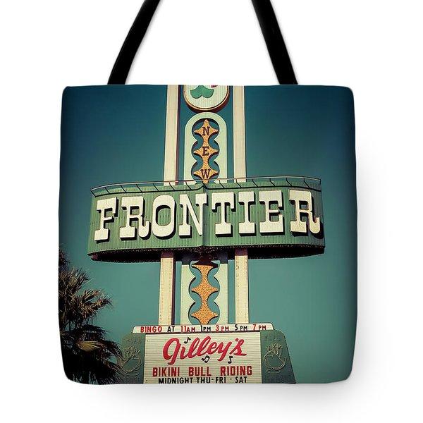 Frontier Hotel Sign, Las Vegas Tote Bag