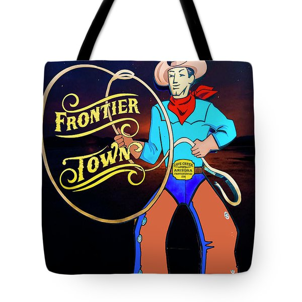 Tote Bag featuring the photograph Frontier Town by Paul Wear