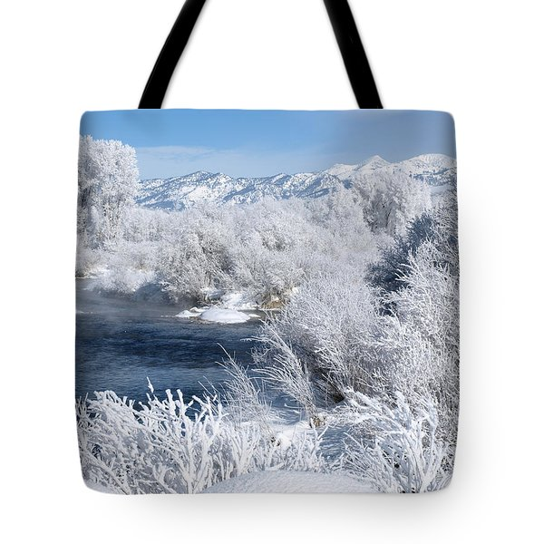 Frost Along The River Tote Bag