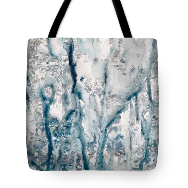 Frost And Rain On The Windows Tote Bag
