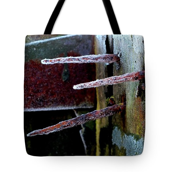 Frost And Rust Tote Bag