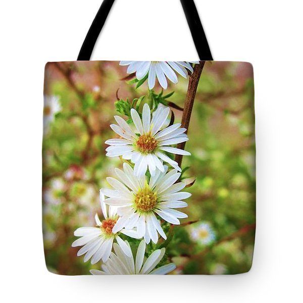 Frost Aster Tote Bag
