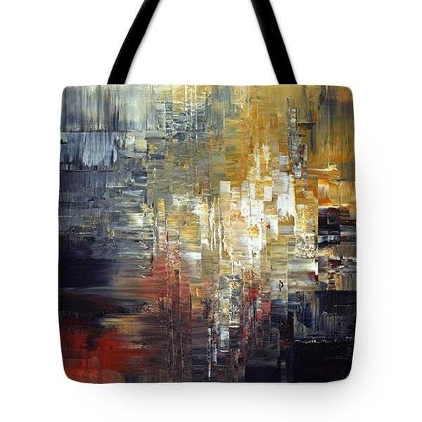 Tote Bag featuring the painting Frost At Midnight by Tatiana Iliina