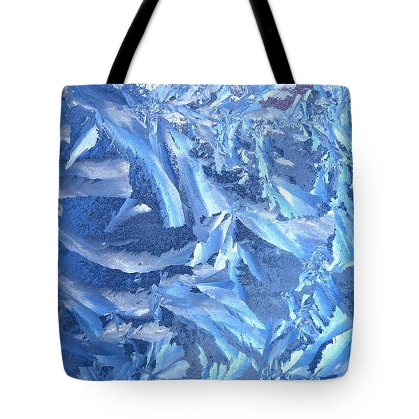 Frost Feathers Tote Bag by Marianne Dow