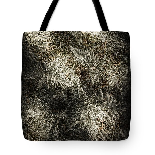 Frost Ferns Tote Bag