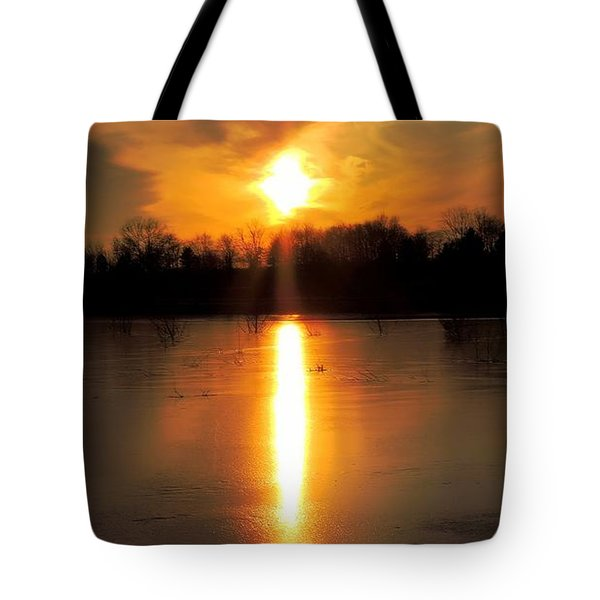 Frost Fire  Tote Bag