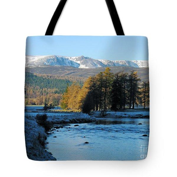 Frost In The Glen - Invercauld Tote Bag