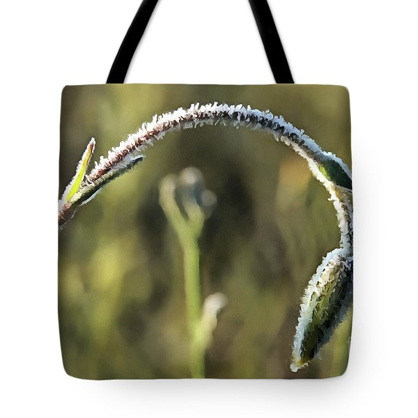 Frost On Flower Tote Bag