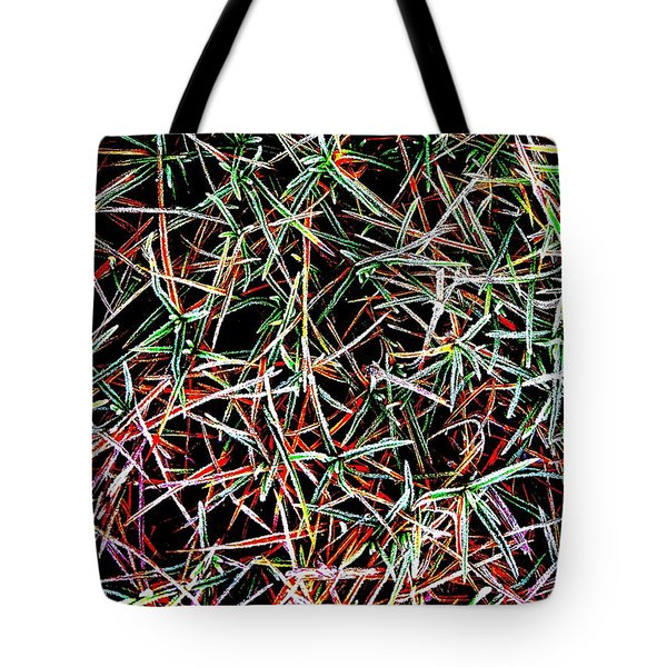 Frost On The Grass Tote Bag