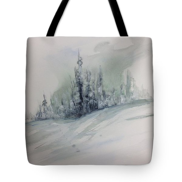 Frost On The Pines Tote Bag