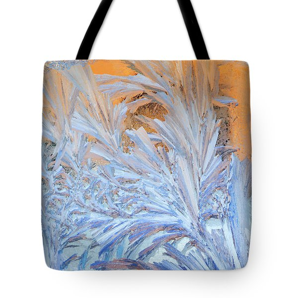 Frost Patterns On Window Tote Bag