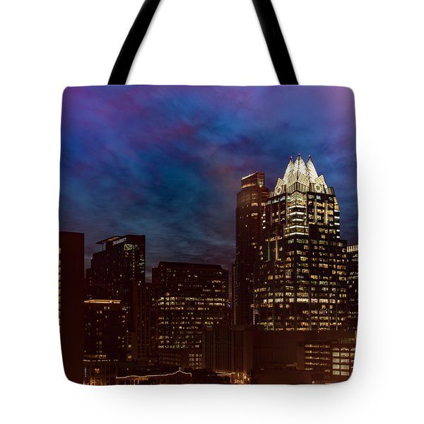 Frost Tower Tote Bag
