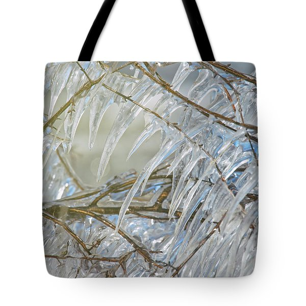 Tote Bag featuring the photograph Frostbite.. by Nina Stavlund