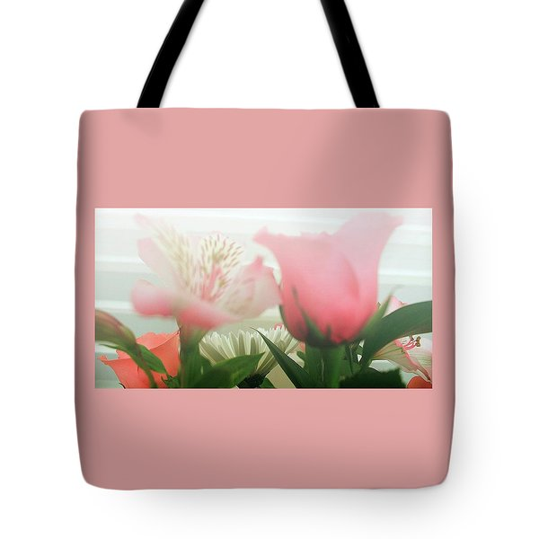 Tote Bag featuring the photograph Frosted Flowers by Ellen O'Reilly
