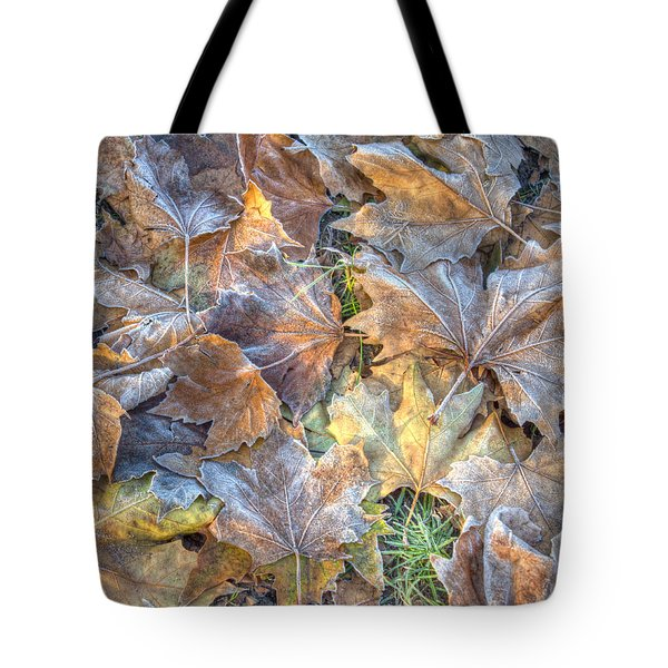 Frosted Leaves 8x10 Tote Bag