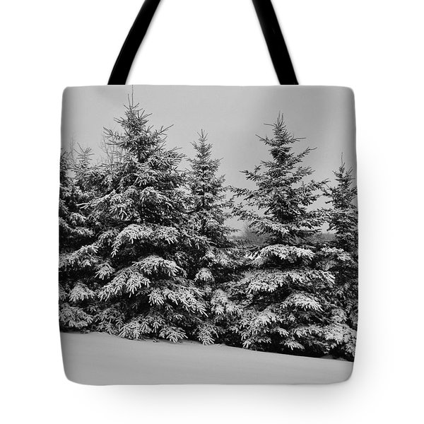 Tote Bag featuring the photograph Frosted Trees by Kathleen Sartoris