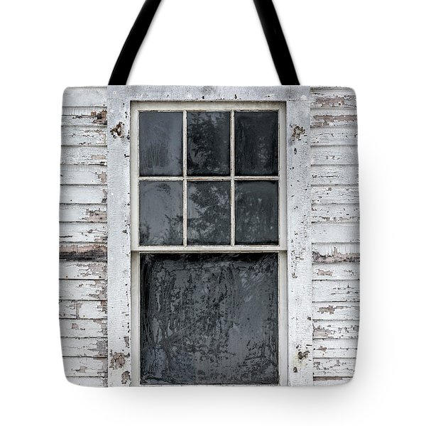 Frosted Window On An Old House Tote Bag