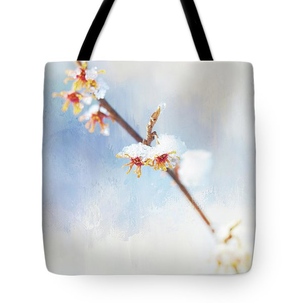 Frosted Witch Hazel Blossoms  Tote Bag