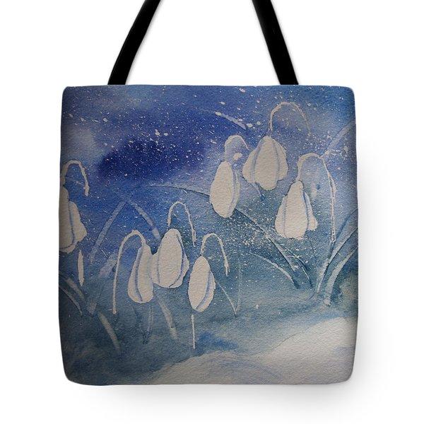 Frosty Bells Tote Bag