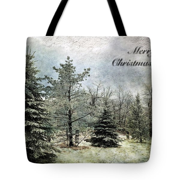 Frosty Christmas Card Tote Bag by Lois Bryan