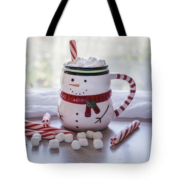 Tote Bag featuring the photograph Frosty Christmas Mug by Kim Hojnacki