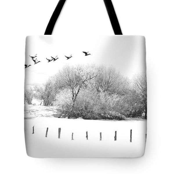 Frosty Flight Tote Bag