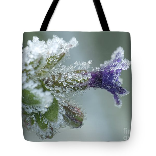Frosty Flower Tote Bag