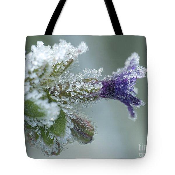 Frosty Flower Tote Bag by Odon Czintos