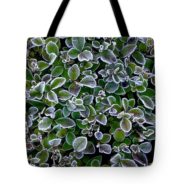 Frosty Hedgerow Tote Bag