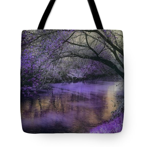 Frosty Lilac Wilderness Tote Bag