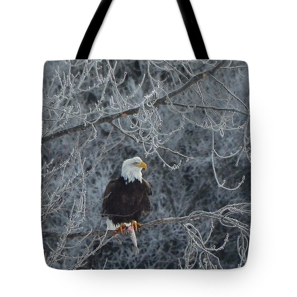 Frosty Morning Eagle Tote Bag