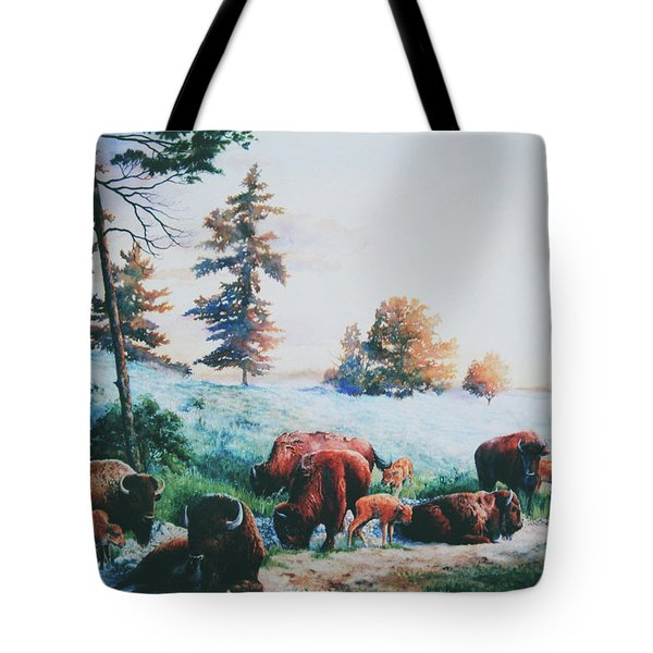 Frosty Morning Tote Bag by Hanne Lore Koehler