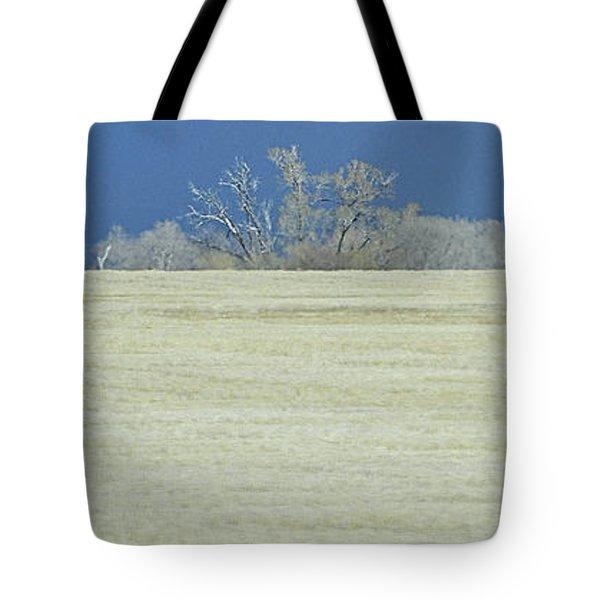Frosty Morning Landscape Tote Bag