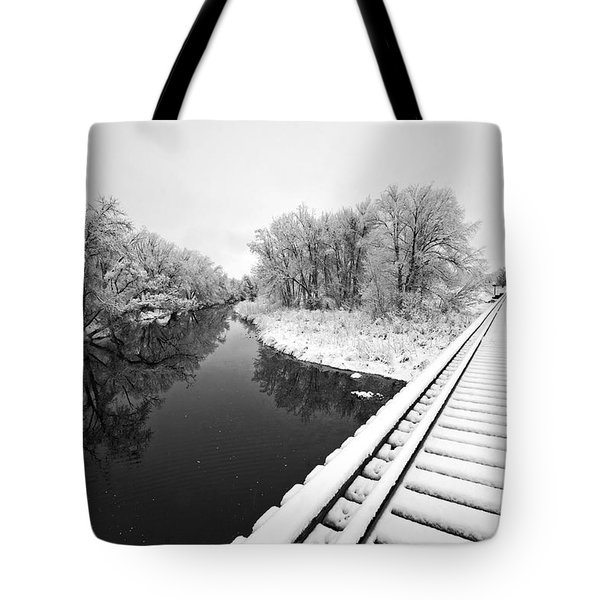 Frosty Morning On The Poudre Tote Bag by James Steele