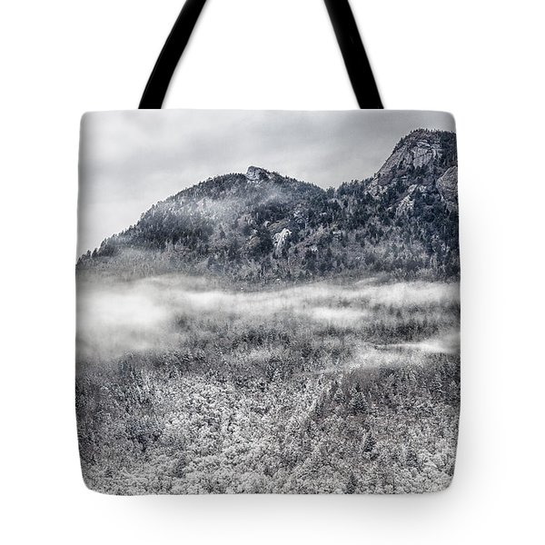Snowy Grandfather Mountain - Blue Ridge Parkway Tote Bag