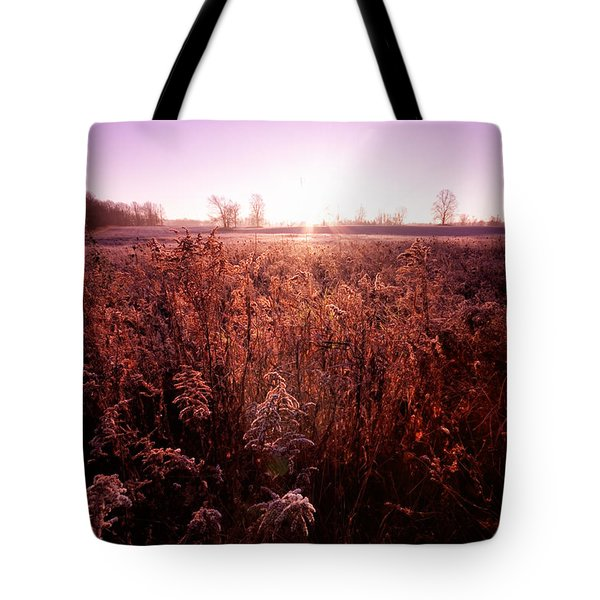 Tote Bag featuring the photograph Frosty Sunrise by Lars Lentz