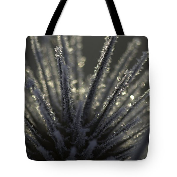 Frosty Teasel Tote Bag