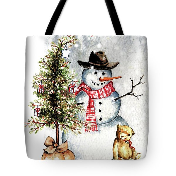 Frosty The Snowman Greeting Card Tote Bag