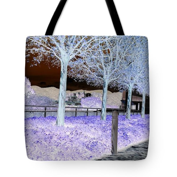 Frosty Trees At The Getty Tote Bag