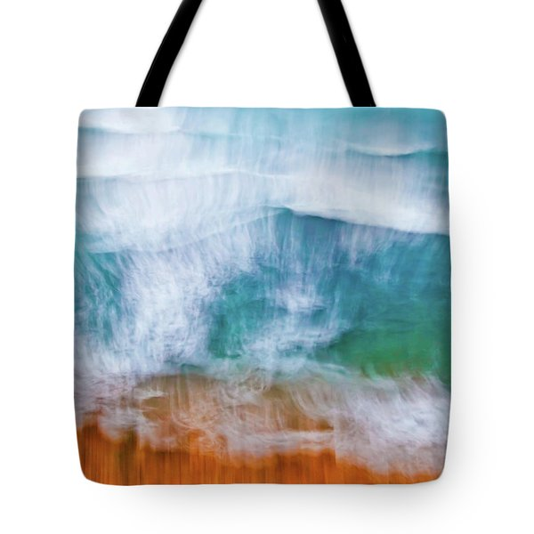 Tote Bag featuring the photograph Frothing Over by Az Jackson