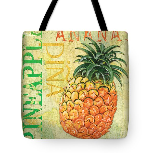 Froyo Pineapple Tote Bag by Debbie DeWitt